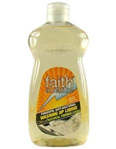 Detergente antibacteriano para louça 500 ml - Faith in Nature