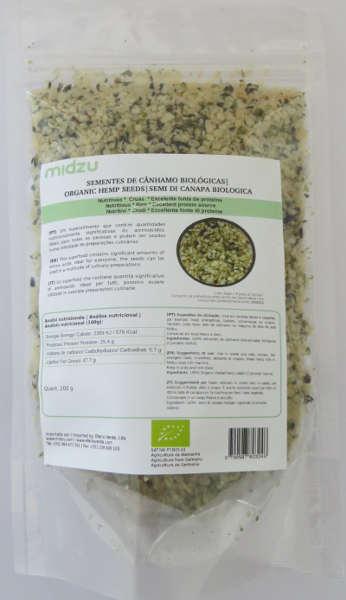 Sementes de cânhamo biológicas Midzu 200 g